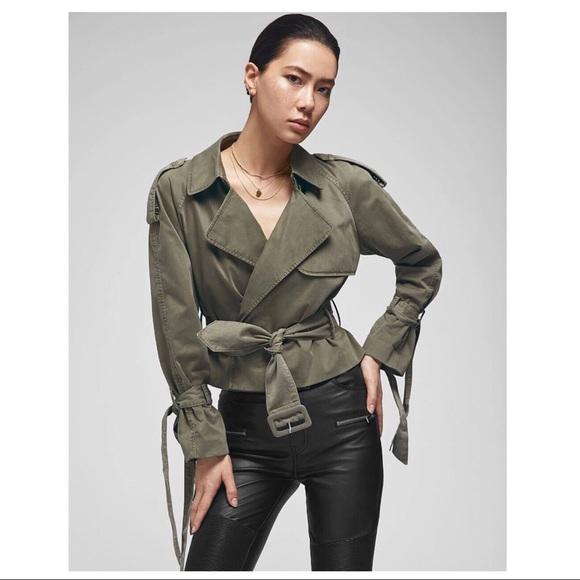 Anine Bing Jackets & Blazers - NWT SS 2019 ANINE BING ARIA TRENCH - GREEN $349